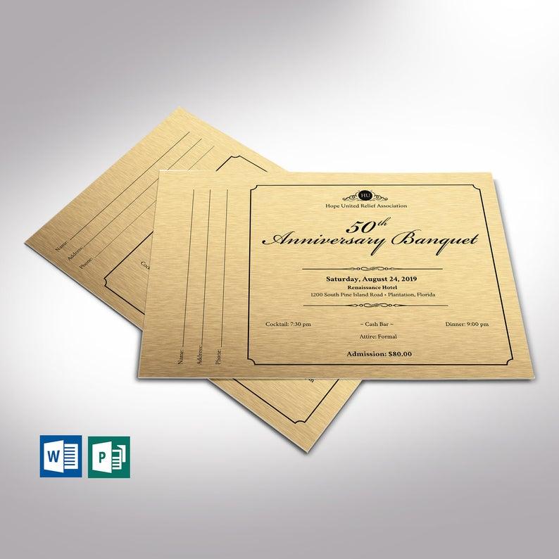 Golden Anniversary Banquet Word Publisher