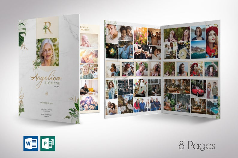 Tropica Funeral Large Template