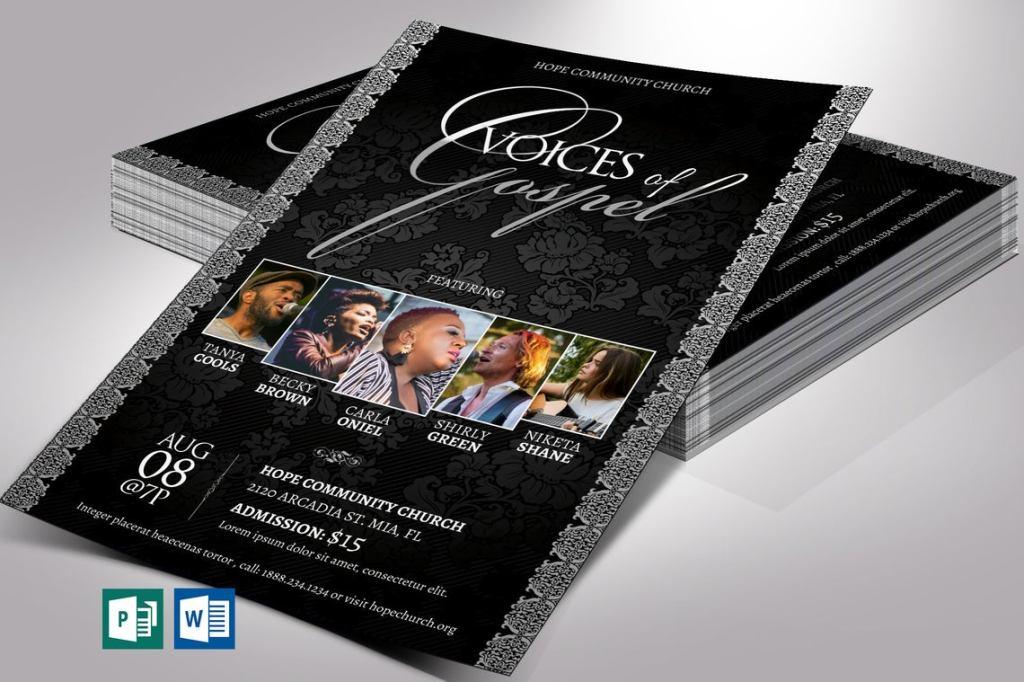 Silver Gospel Concert Flyer