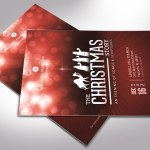 Red Christmas Story Flyer Word Publisher Template