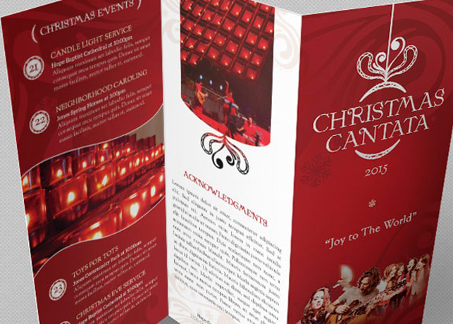 Christmas Cantata Brochure Template Godserv Market