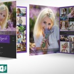 Purple Funeral Program