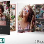 Remember Rose Gold Funeral Program Word Publisher Large Template