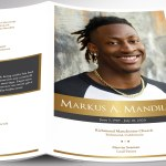 Kings Gold Funeral Program Word Publisher Template