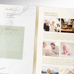 Tropica Tabloid Trifold Funeral Program Word Publisher Template