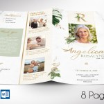 Tropica Funeral Program Word Publisher Template