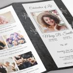 Graystone Legal Trifold Funeral Program Word Publisher Templat