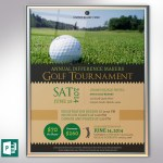 Charity Golf Tournament Poster PowerPoint Publisher Template