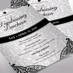 White Black Luncheon Flyer Word Publisher Template