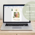 Tropica Funeral Digital Invitation Word Publisher Template