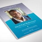 Sky Blue Diamond Funeral Word Program Word Publisher Template