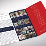 American Military Legal Trifold Funeral Program Word Publisher Template - V3