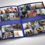 Blue Silver Tabloid Funeral Program Word Publisher Template