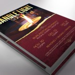 Candle Light Flyer Word Publisher Template