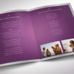 Lavender Tabloid Funeral Program Word Publisher Template
