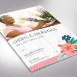 Spring Funeral Program Word Template