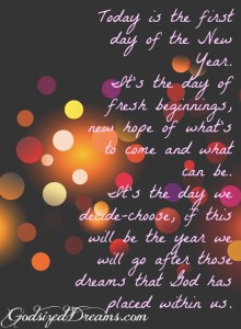 2015 Is The Year Of New Beginnings