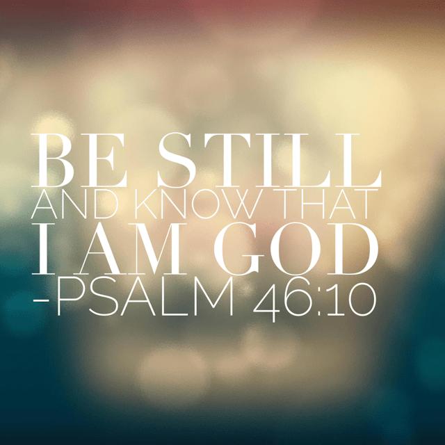 Be Still Prayer