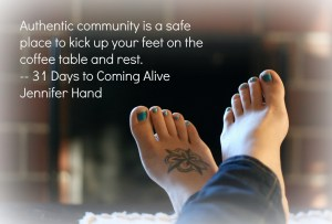 Coming Alive in Community