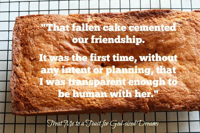 fallen cake