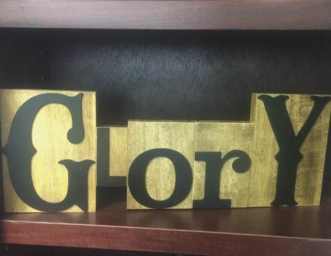 Letterpress Glory Dayspring