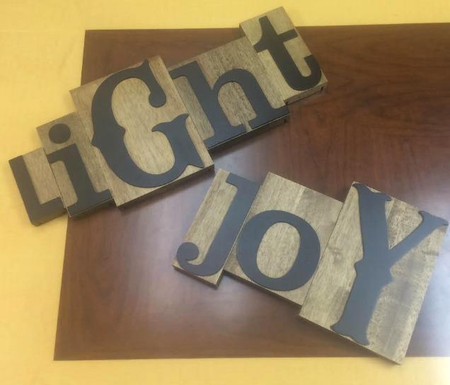 Letterpress Joy and Light Dayspring