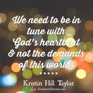 Know God Deep Enough To Dream