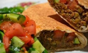lentil burrito