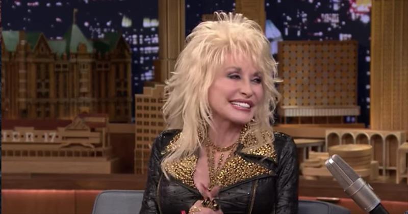Dolly Parton Makes Jimmy Fallon Try On