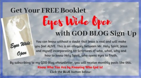 Free Booklet Eyes Wide Open with God Blog Sign Up