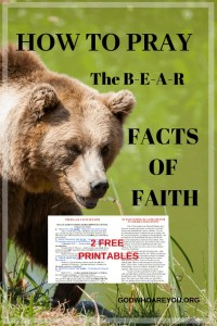 How to Pray: The B-E-A-R Facts of Faith with 2 Free Printables