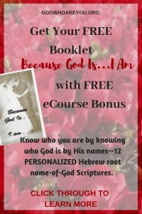 Get Your Free Booklet Because God Is I Am with Free eCourse Bonus