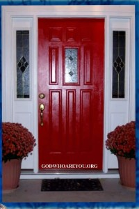 Red Door at Passover