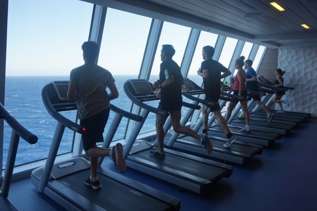 gym at anthem of the seas
