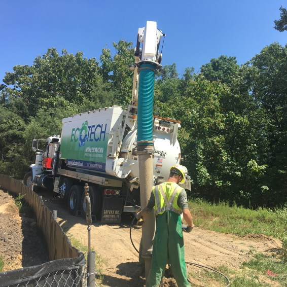 Working in northeast MD with a construction company on a commercial jobsite in to locate multiple sewer mains.