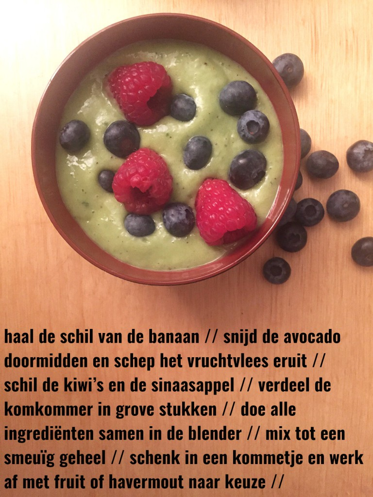 fecept green power smoothie ontbijt tarwegras