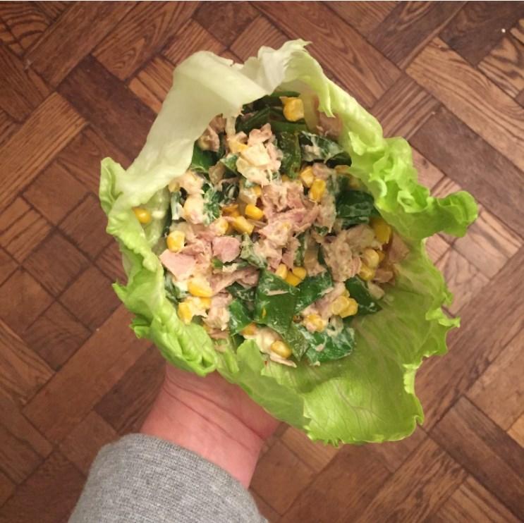 recept voor slawraps met gezonde mayonaise en tonijnsalade