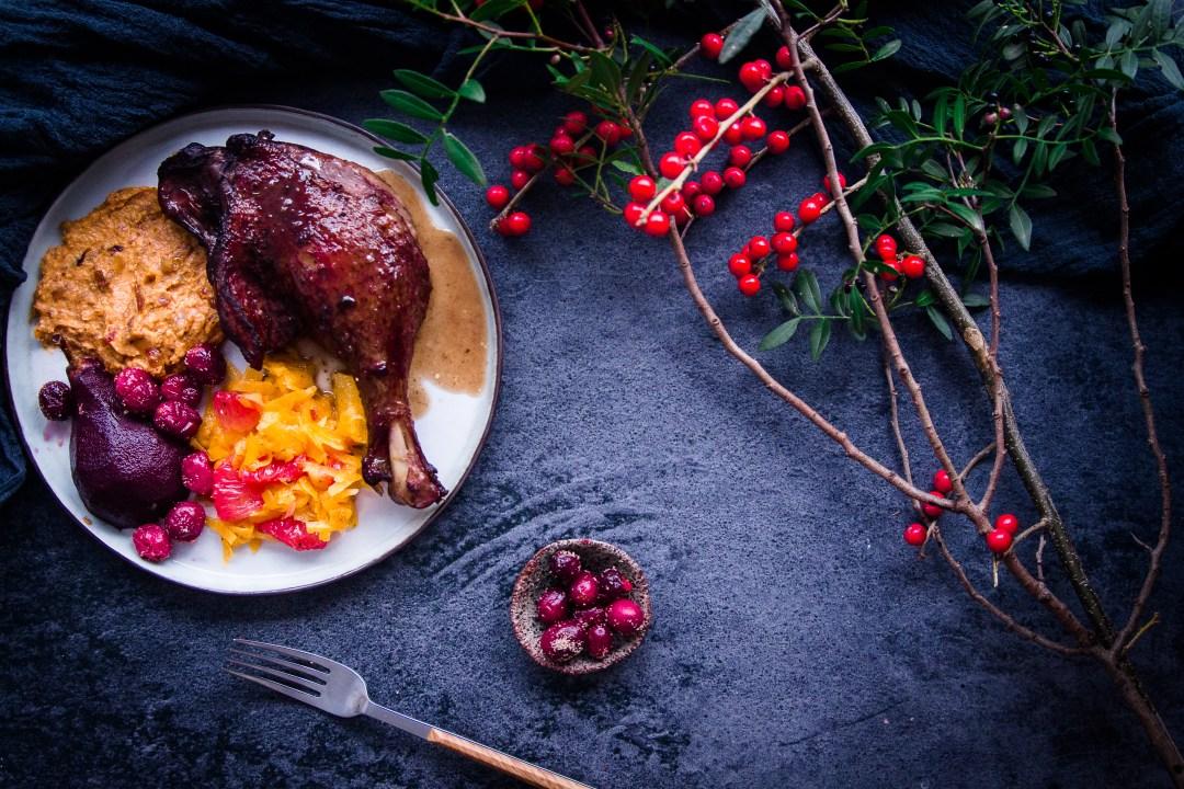 eendenbout traag gegaard jeneverbessen kerstmenu zoete aardappel pecannoten stoofpeertje butternut goestjes jozefien ryckx