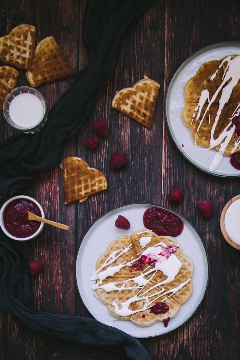 hartjeswafels uit noorwegen chia jam framboos zure slagroom dessert goestjes jozefien ryckx