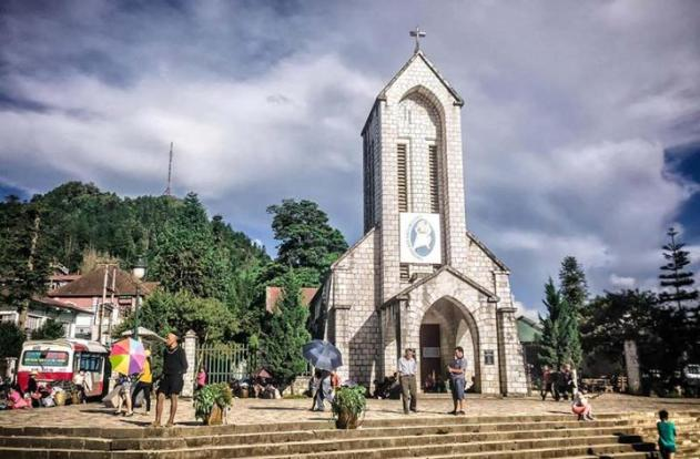 Sapa church, Vietnam