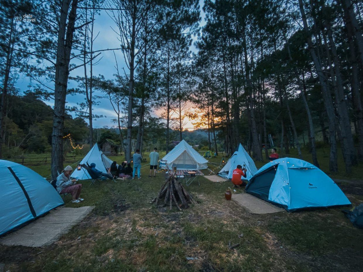Camp in the mountains (Da Lat)