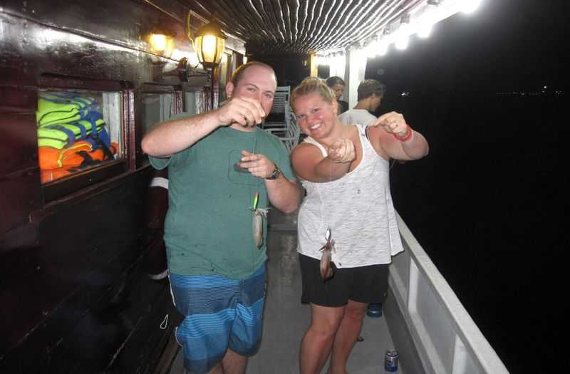 Night squid fishing in Phu Quoc Island