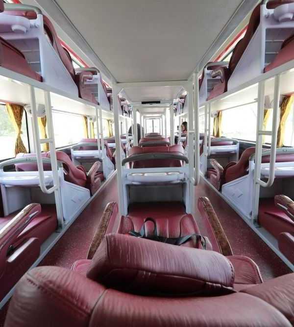 Inside sleeper bus hanoi to sapa