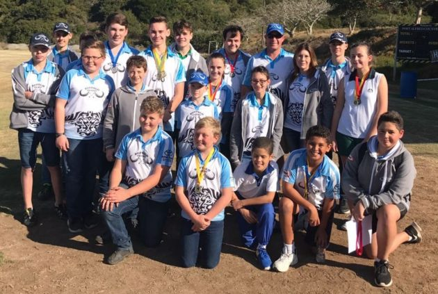 IT'S A BULLSEYE: Buffalo Archery Club represented their schools and club at the National Archery in the School Programme (NASP) at the Eastern Cape Championships in Port Alfred recently. The club won 13 medals Picture: SUPPLIED