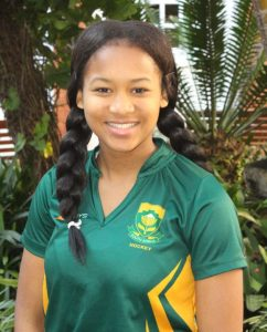COMING OUT ON TOP: Clarendon High School pupil, Bianca Wood was named the top goalscorer of the FNB Private Wealth Super 12 Hockey Tournament that was held in Bloemfontein last this past weekend Picture:SUPPLIED
