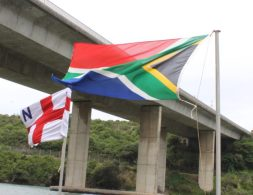 FLYING HIGH: The NSRI and SA flags fly together