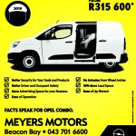 1649163723 MEYERS MOTORS EAST LONDON OPEL COMBO MAY-JUNE CAMPAIGN PRESS 112X150MM_FC E_HR CTP
