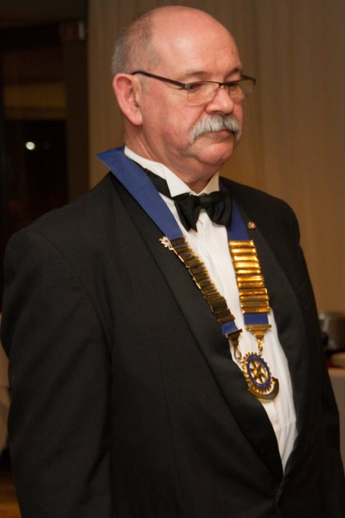 NEW LEADERSHIP: Rotary Club of Gonubie's new president, Jannie Bezuidenhout