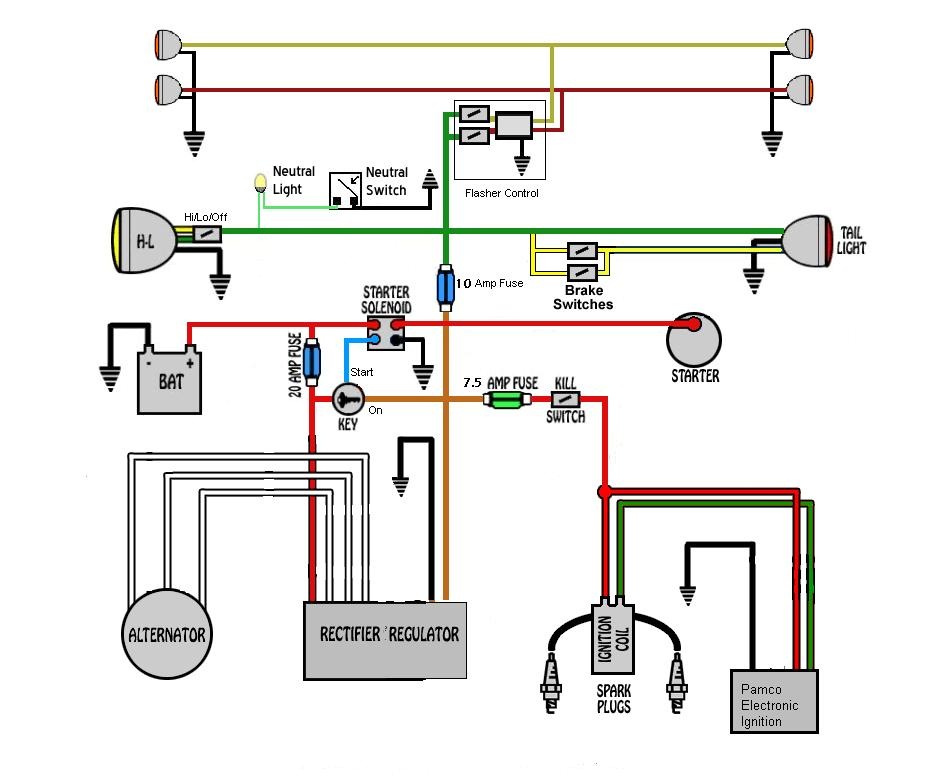 yamaha xt350 wiring diagram wiring schematics diagram rh enr green com XT350 GIF XT350 vs DR350