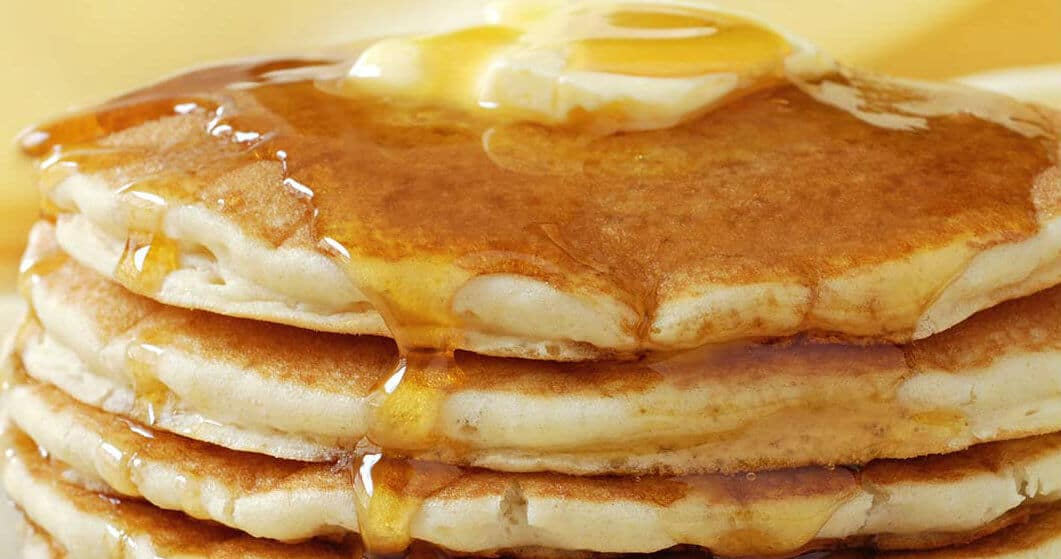 Coconut Pancakes With Coconut Syrup